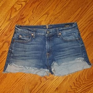 7 for all man kind denim jean shorts size 31